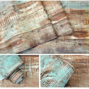 10m 3d Vintatge Wood Pattern Brown Pvc Wallpaper For Kitchen Bedroom Study Decor Ebay