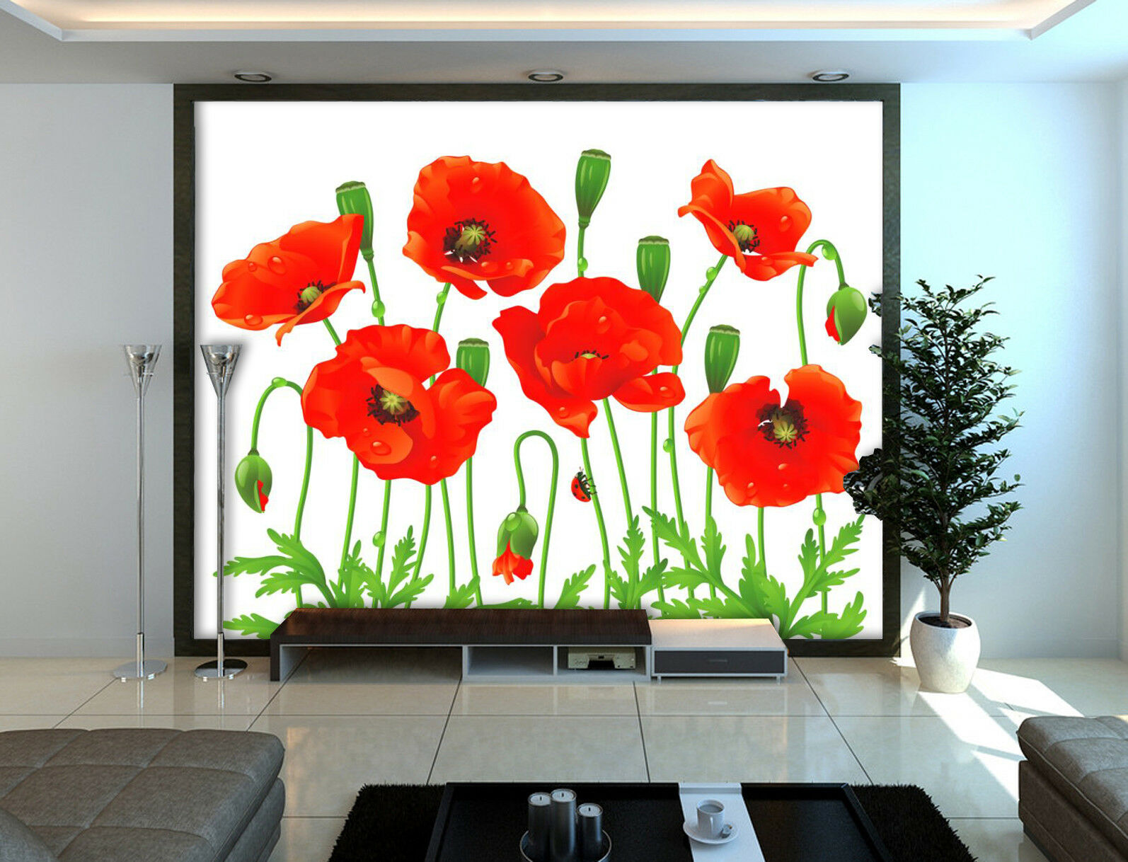 3D Flower Grass 7432 Wallpaper Mural Wall Print Wall Wallpaper Murals US Summer