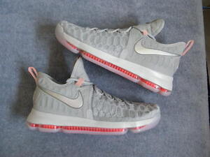 detailed look 7ab73 39604 Details about Nike Air Zoom KD9 KD 9 IX Preheat WOLF GREY Elite sz 11 DS  NEW NIB Kevin Durant