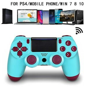Wireless-Bluetooth-Gamepad-Controller-for-Dualshock-PS4-PlayStation-4-Berry-Blue