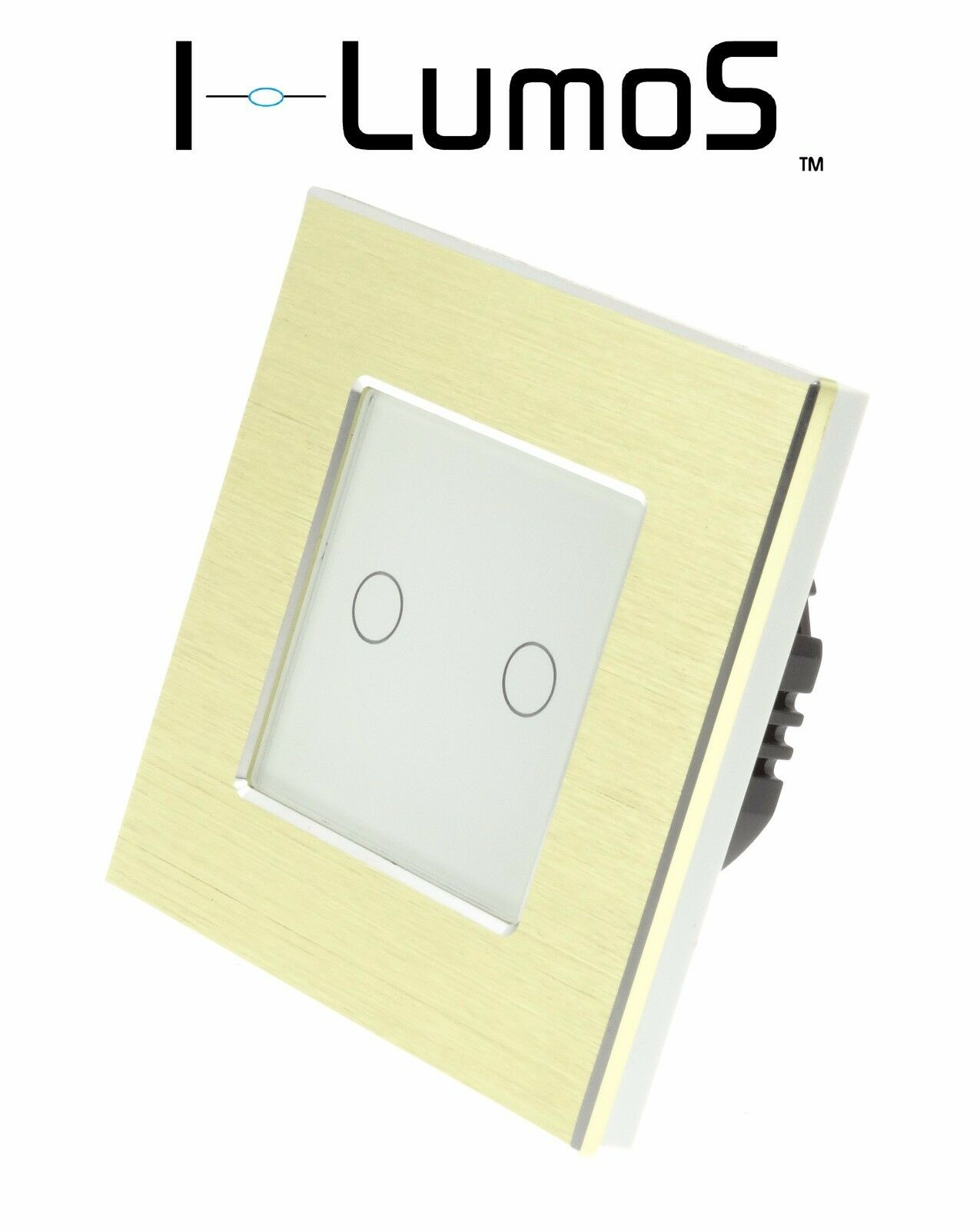 I LumoS Gold Aluminium Frame Touch WIFI 4G Remote On Off LED Light Switches