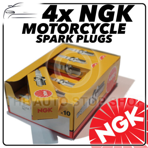 4x NGK Spark Plugs for TRIUMPH 600cc Speed Four 02-/> No.4548