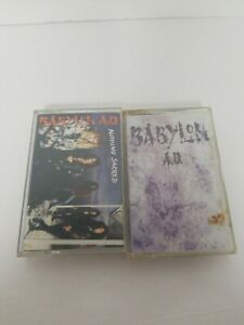 Lot-of-2-Babylon-AD-Music-Cassette-Tapes-Babylon-A-D-amp-Nothing-Sacred-Tested