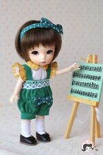 Lati Yellow Puki Fee AE Doll Outfit Yellow White Top + Green Jumper Set