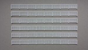 Lot-6-balustrades-pont-barriere-garde-corps-1-87-HO-decor-train-diorama-maquette
