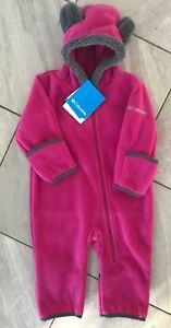 2eda582d1 NEW Columbia Western Barlow Fleece Tiny Bear Bunting Size 3-6 Month ...