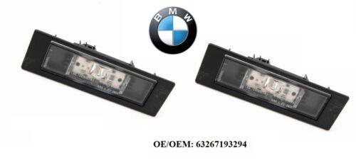 2x Original BMW Kennzeichenleuchte LED E81 E87 F20 F21 F12 63267193294 **Neu**