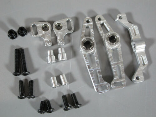 Aluminum Front L/&R Wide Angle Steering Knuckle Arm Tamiya RC 1//10 TT-01 Chassis