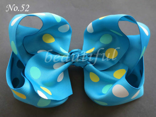 "110 BLESSING Good Girl 8 Inch ABC Hair Bow Clip 2.5/"" Grosgrain Ribbon 79 No."