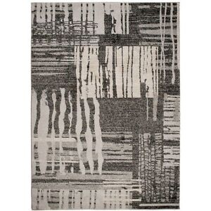 Rasta-Modern-Rug-Runner-Collection-E237A-Black-160-X-220-BRAND-NEW