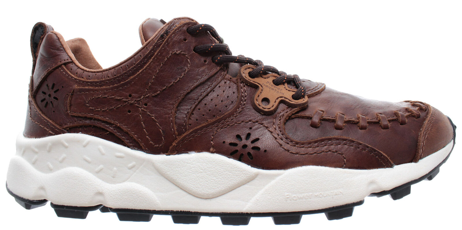 FLOWER MOUNTAIN chaussures Homme Turnchaussures Yahommeo Man Calf marron marroni Agion