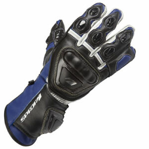 SPADA-CURVE-LEATHER-MOTORCYCLE-GLOVES-SPORTS-RACE-BIKE-BLUE-BLACK