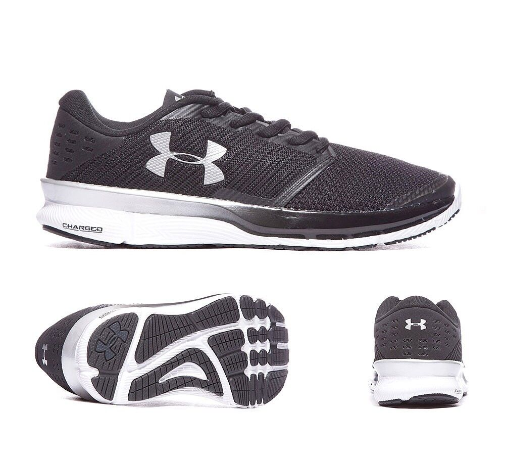 Mens Under Armour Charged Reckless Black/White Trainers RRP £69.99 (.PF19)