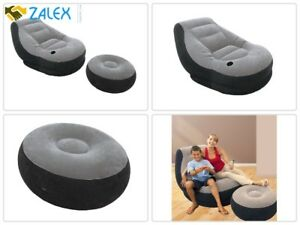 Fabulous Details About Beanless Bag Inflatable Chair Comfort For Kids Adults Teen Waterproof W Ottoman Andrewgaddart Wooden Chair Designs For Living Room Andrewgaddartcom