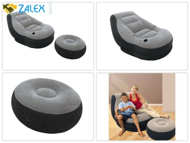 Remarkable Beanless Bag Inflatable Chair Comfort For Kids Adults Teen Waterproof W Ottoman Alphanode Cool Chair Designs And Ideas Alphanodeonline