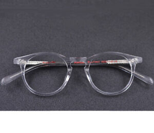 Vintage-Round-Eyeglass-Frames-Wood-Grain-Spectacles-Acetate-Glasses-Retro-HFA638