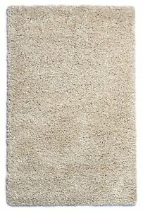 Purity-moderne-creme-Tapis-Shaggy-100-polypropylene-160cm-x-230cm-7FT-1-8x1-5m