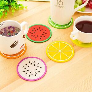 4er-6er-Set-Untersetzer-Frucht-Glasuntersetzer-rund-bunt-PVC-Melone-Zitrone