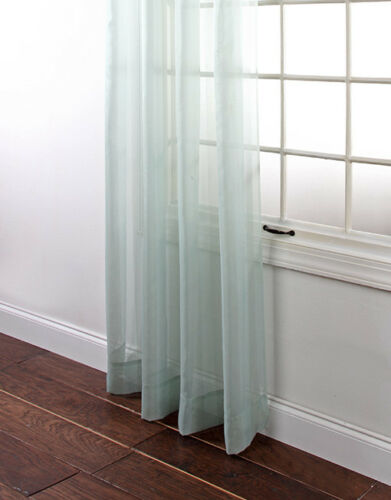 """Stylemaster Lucky Stripe Voile Panel Sheer Window High Quality 63/"""" or 84/"""" length"""
