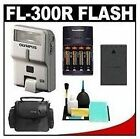 Olympus PEN FL-300R Micro Four Thirds Electronic Flash with Batteries & Charger + Case + BLS-1/BLS-5 Battery + Accessory Kit for E-P1, E-P2, E-P3, E-PL1, E-PL2, E-PL3, E-PM1 Digital Camera