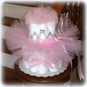 ... NEW Princess Diaper Cake Baby Shower Centerpiece Pink