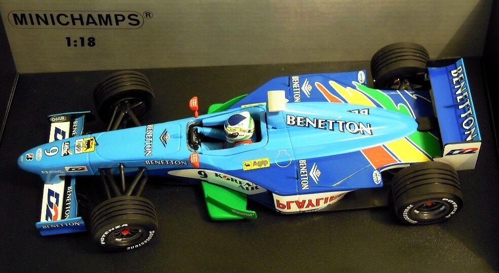 MINICHAMPS 180990079  f1 Benetton b199 Showcar, 1 18, Fisichella  9, NOUVEAU & NEUF dans sa boîte