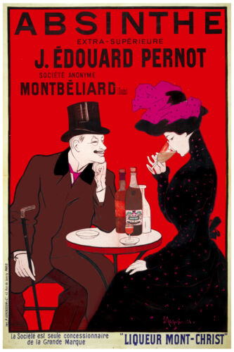 3037.Absinthe extra superieure red wine POSTER.Home bedroom decor.Interior room