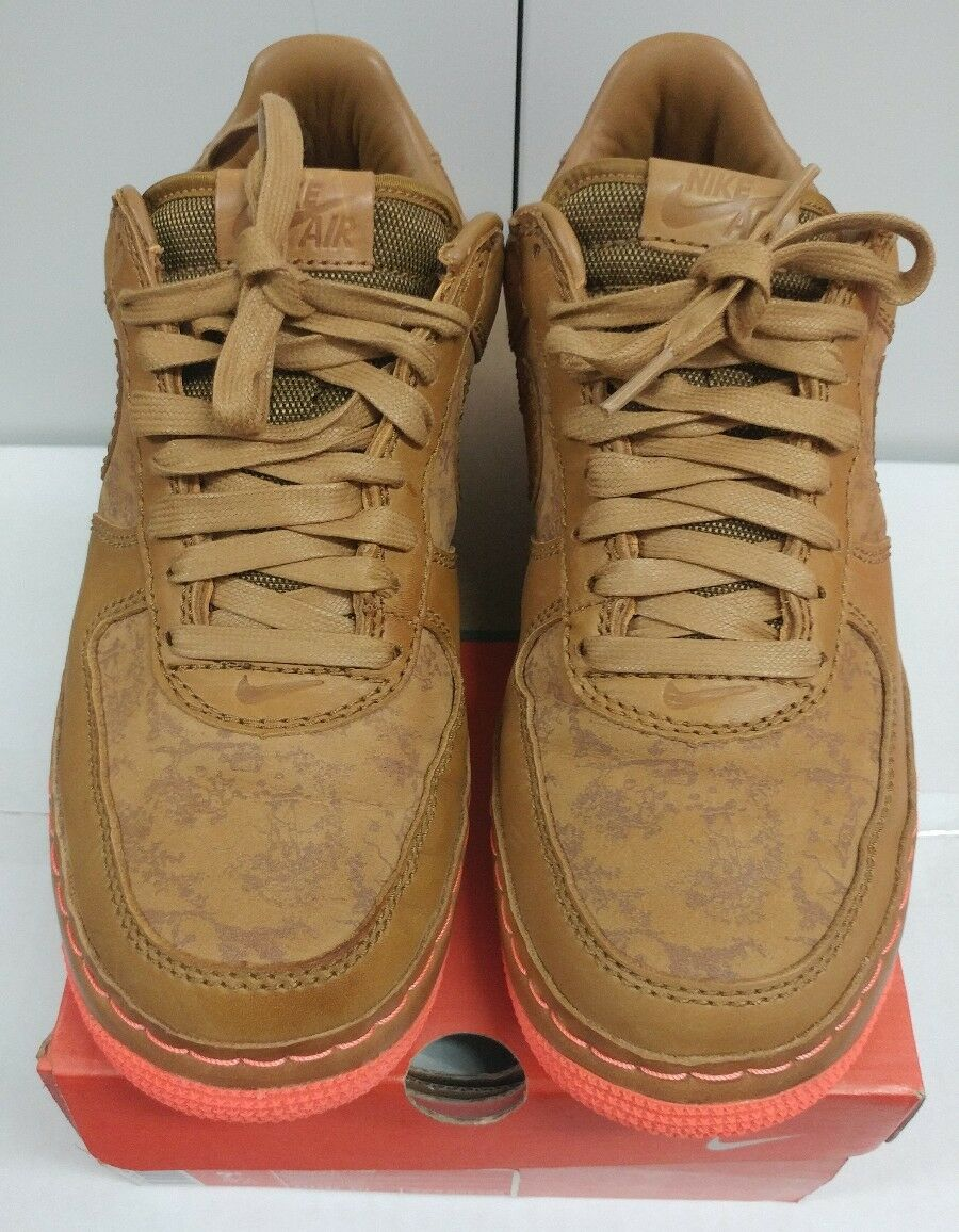 Nike Air Force 1 Size 9.5 Low Inside out Maple Golden Mango 312486 271