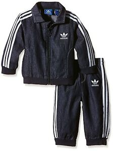 Details zu ADIDAS ORIGINALS FIREBIRD JEANS KINDER JOGGER DENIM TRAININGSANZUG SPORTANZUG 74