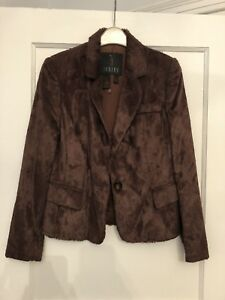 4839d848ed Jesire faux pony skin Jacket Brown Russet New - Never worn. Size 8