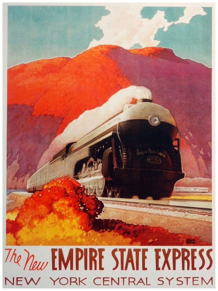 4362.Empire state express.new york central system.POSTER cor Home Office art