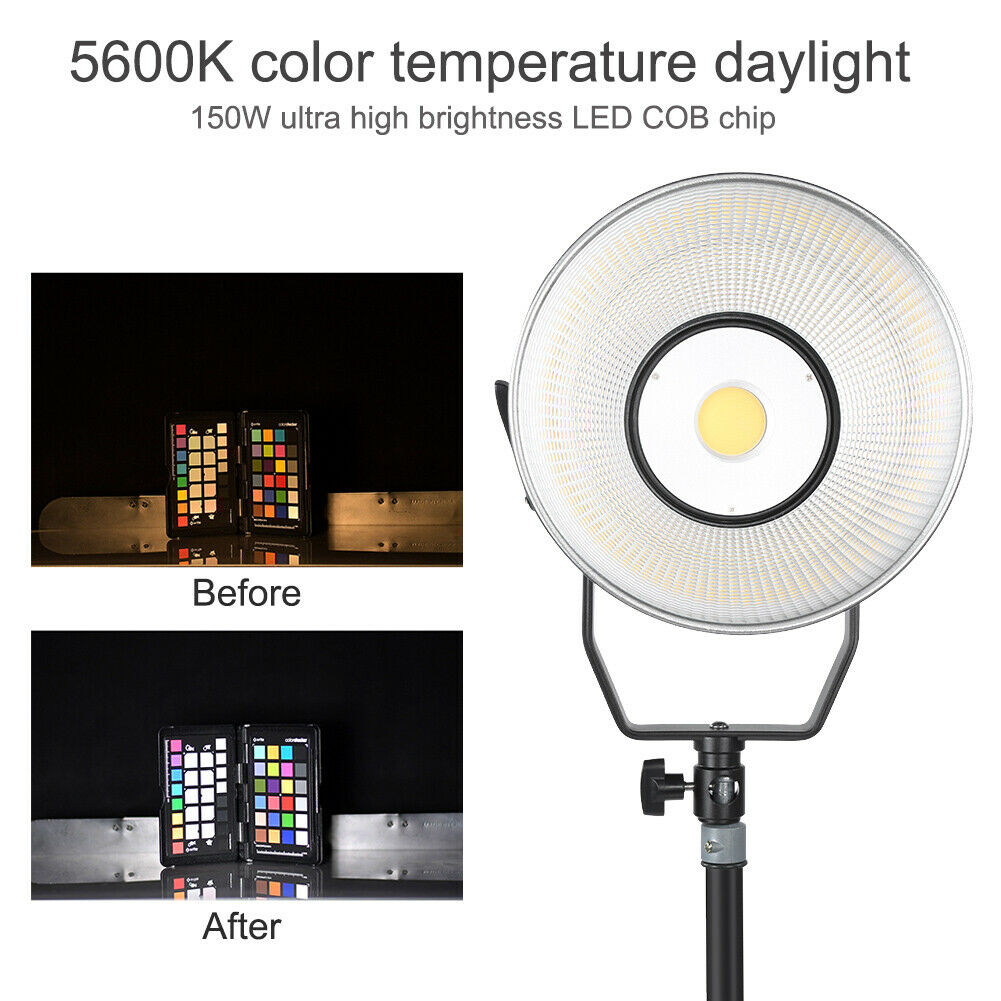 FALCONEYES LPS‑150T Photography Fill Light With Backlight LCD Display Screen