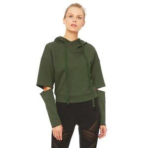 Pullover sleeve Hoodie Peak Split Green Hunter Small Nwot Alo Jacket Yoga Top wY4qxnt80