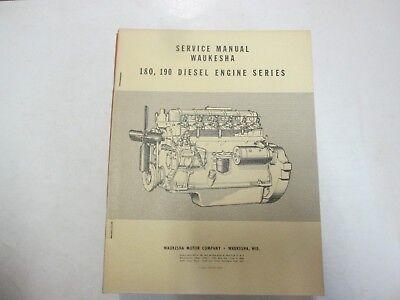 1958 Waukesha 180 190 Motore Diesel Serie Servizio Shop Manuale Minori Macchie
