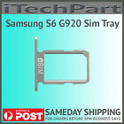 Sim Card Holder Tray For Samsung Galaxy S6 G920 Replacement SILVER