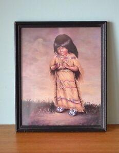 Vintage-American-Indian-print-Z-Garcia-mid-century-retro