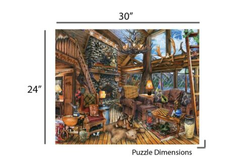 Springbok/'s 1000 Piece Jigsaw Puzzle The Hunting Lodge