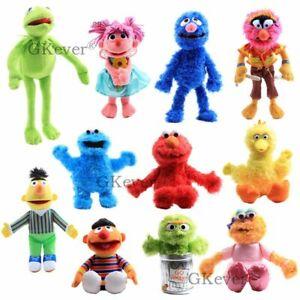 Sesame-Street-Muppets-Kermit-Plush-Elmoe-Cookie-Monster-Drummer-Abby-Doll-Toys