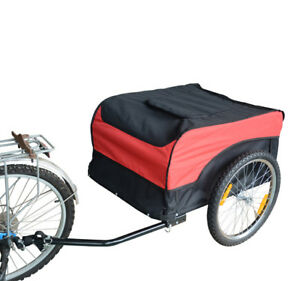 Cargo-Bike-Trailer-Garden-Use-Cart-Foldable-w-Cover