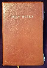 Cambridge Holy Bible Brown Antique French Morocco Leather Index Tabs Red Letter