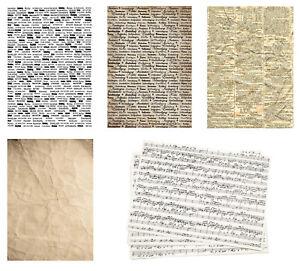 10-Kraftpapier-A4-Hintergrund-Papier-Designpapier-Schriften-ZEITUNG-NOTEN-2068