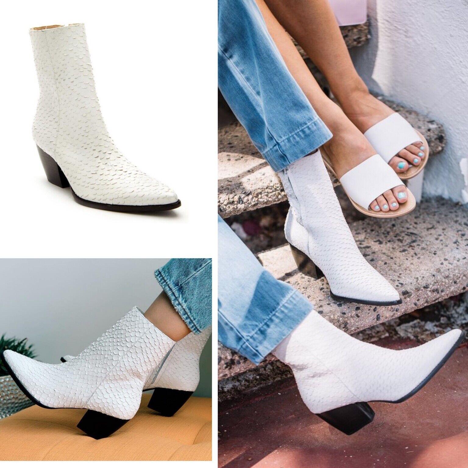 Neu Matisse Damen Caty Weiß Schlangenleder Wadenhoch Stiefel Größe US 7 M
