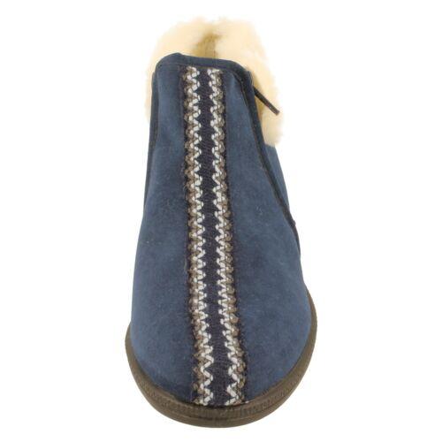 Mesdames rohde doublure chaude bootie chaussons à fermeture éclair 2178