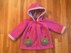 79d011953631 Girls WIDGEON Fleece Jacket Toddler Infant 18 months   Pink Cupcakes ...