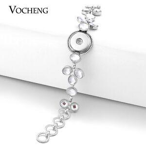 Vocheng Snap Button 18mm 2 Colors Interchangeable Leather Chunk Bracelet NN-492