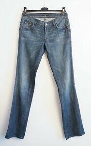 Hugo Boss Size 28 Flared Boot Cut Women Organic Cotton Pants Faded RA32h
