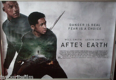 Cinema Poster After Earth 2013 Quad Jaden Smith Will Smith Sophie Okonedo Ebay