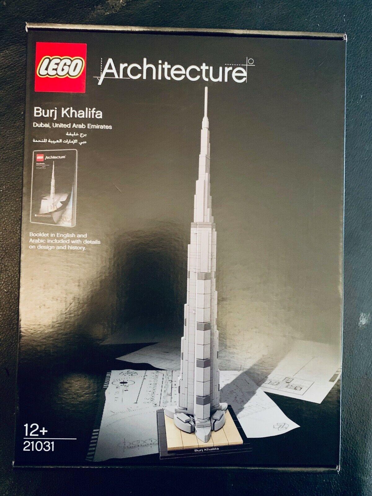 Lego Arquitectura Burj Khalifa retirado rara 21031 desde Dubai Emiratos Árabes Unidos en árabe