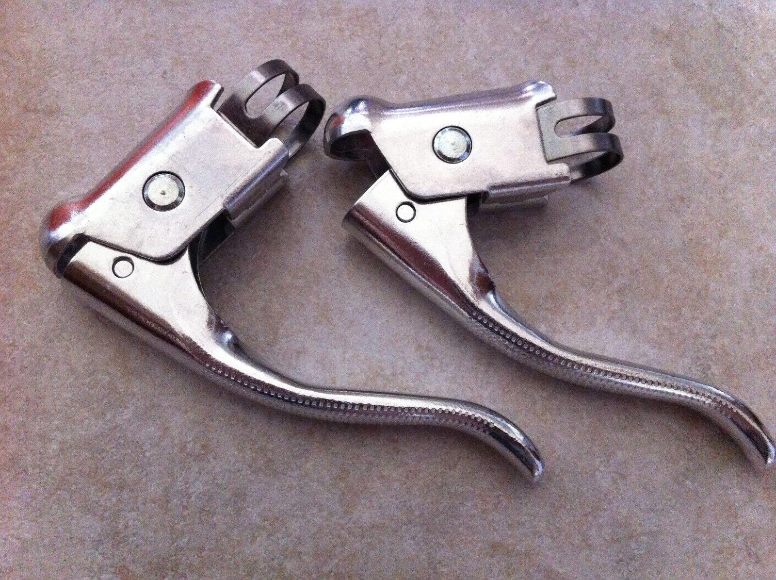 1 Pair Vintage Road Bike Safety Dual Brake Levers Racing Mountain Bicycle Drop