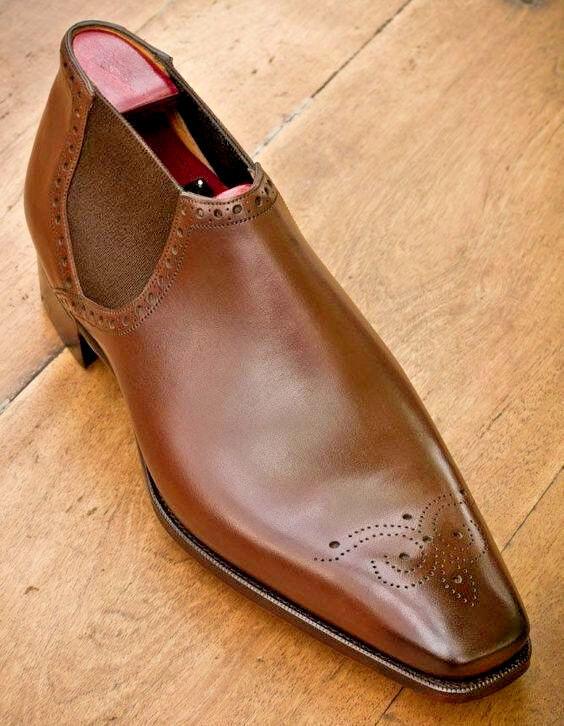 Handmade Men Chelsea French Style Leather Luxury shoes, los shoes de cuero